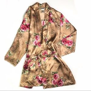 Delicates Animal Print Floral Robe with …